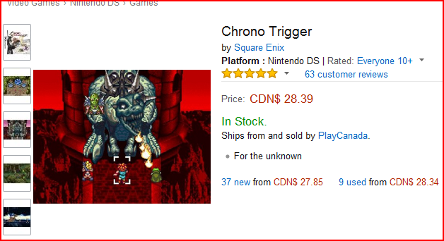 Chrono Trigger Amazon