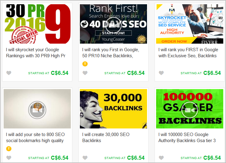 fiverr cheap backlinks