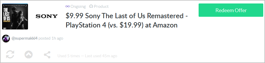last of us remastered sale