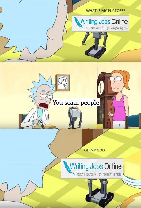 rick and morty scam meme