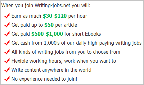 writing jobs scam
