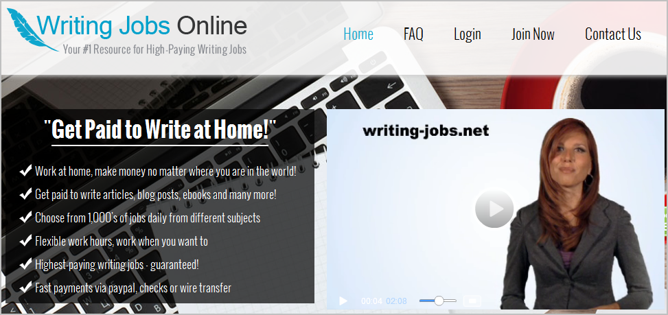 is writing jobs online a scam
