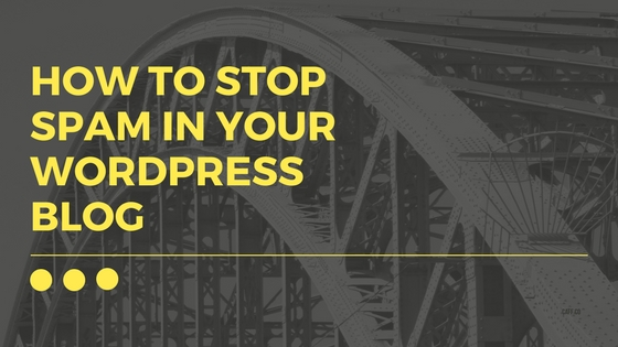 How To Stop Comment Spam In Your WordPress Blog