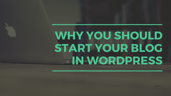 Why You Should Start Your Blog in WordPress